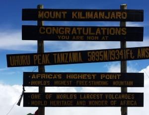 Mt Kili signboard