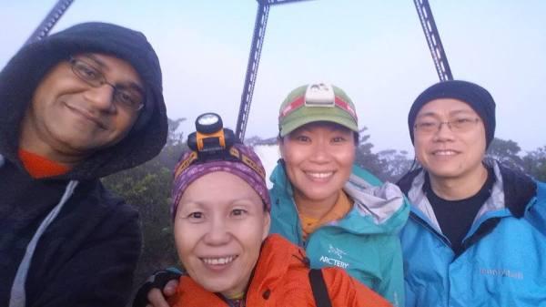 On the summit of Trus Madi. Photo credit: Prasanna Srinivasan