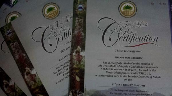 Summit certificates